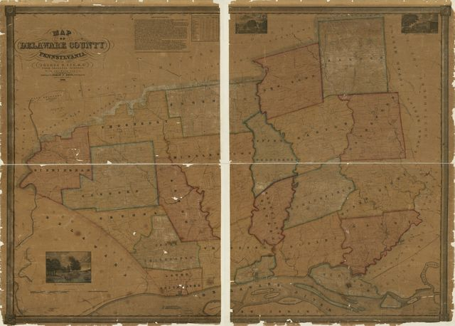 Map of Delaware County, Pennsylvania : from original surveys, with the farm limits /
