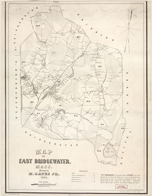 Map of East Bridgewater, Mass. /