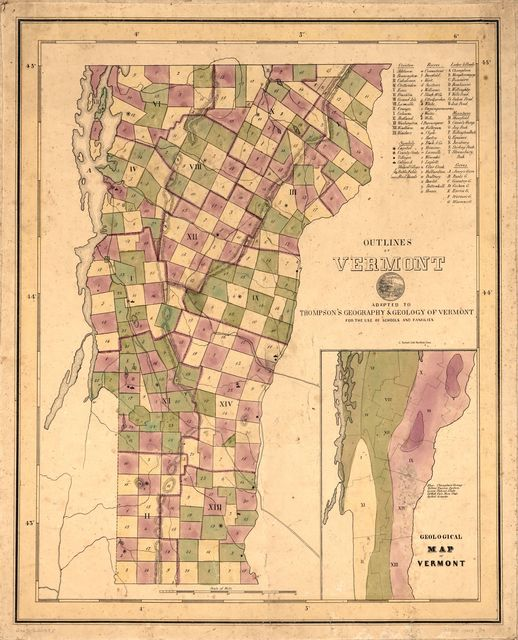 Outlines of Vermont : adapted to Thompson's Geography & geology of Vermont for the use of schools and families.
