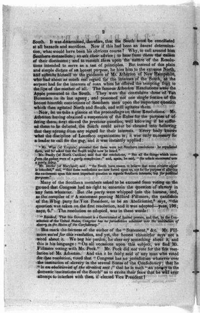 """""""Read! Read!!"""" Being a reply to """"a statement proving Millard Fillmore, the candidate of the Whig party for the office of Vice President, to be an abolitionist ... [1848?]."""