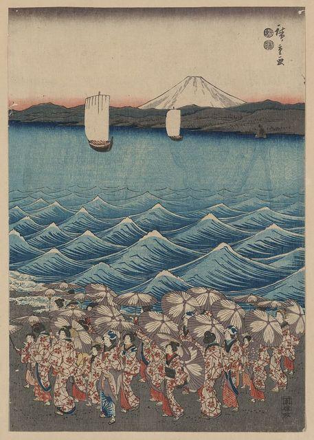 Sōshū enoshima benzaiten kaicyō sankei gunshū no zu