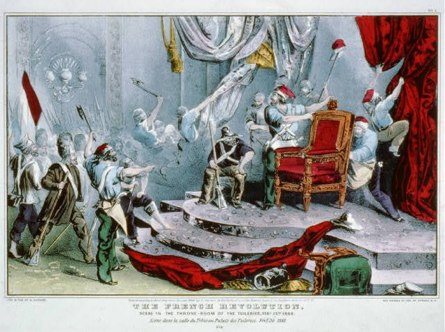 The French revolution: scene in the throne-room of the Tuileries, Feby. 24th, 1848