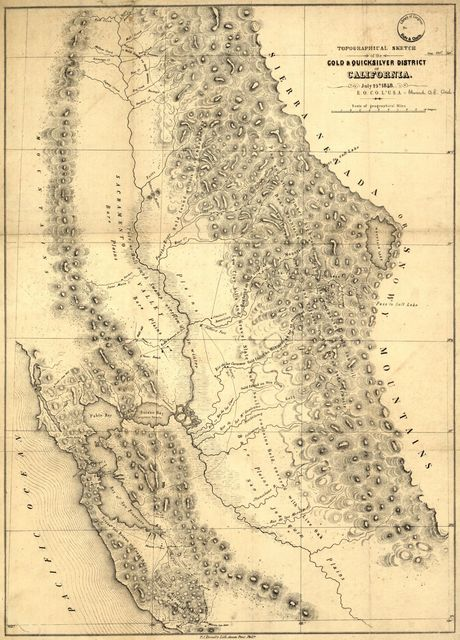 Topographical sketch of the gold & quicksilver district of California.