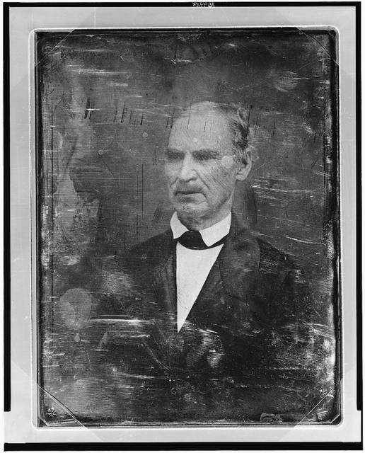 [Unidentified man, about 50 years of age, head-and-shoulders portrait, three-quarters to the left]