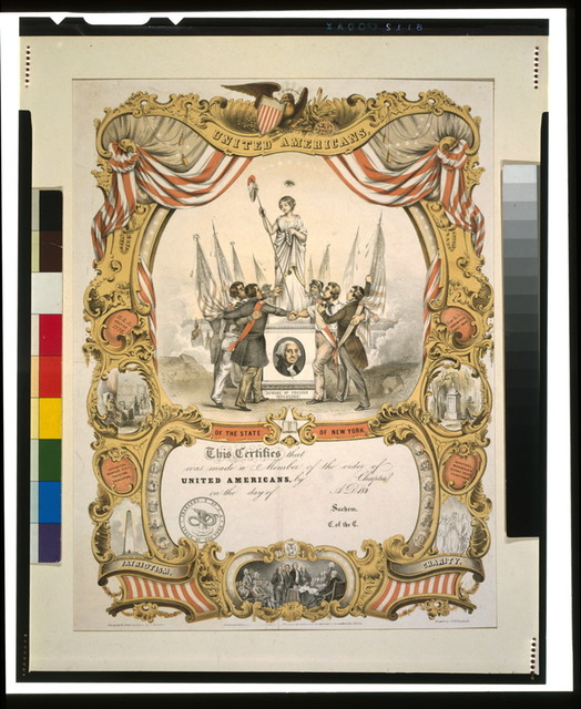 United Americans of the state of New York / designed & litho'd. in colors by C[harles] Parsons ; printed by G. & W. Endicott.