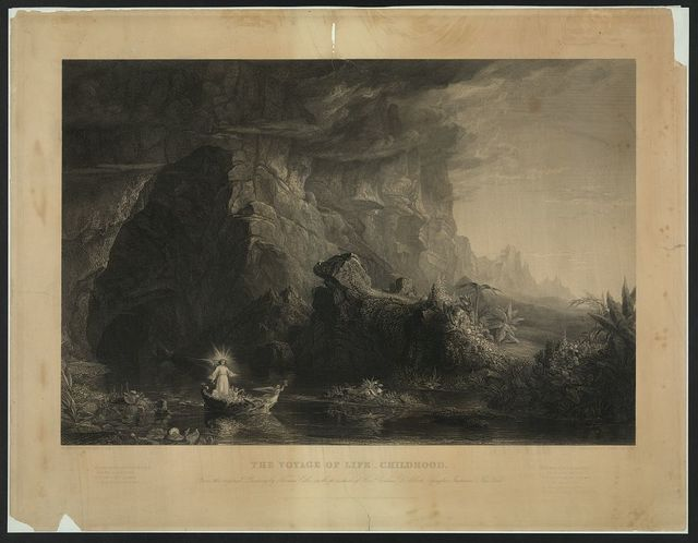 Voyage of life - childhood From the original painting by Thomas Cole, in the possession of Rev'd Gorham D. Abbott, Spingler Institute, New York / / painted by Thomas Cole ; engraved by James Smillie.