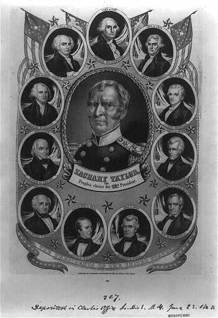 Zachary Taylor, the people's choice for 12th president