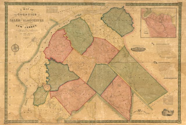 A map of the counties of Salem and Gloucester, New Jersey : from actual surveys /