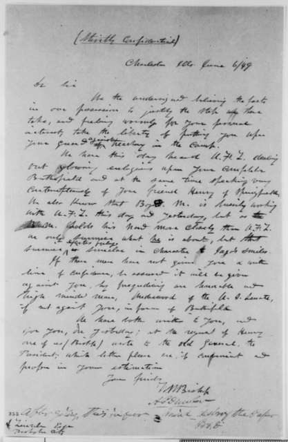 Alexander P. Dunbar and William W. Bishop to Abraham Lincoln, Wednesday, June 06, 1849  (Abraham Lincoln in Land Office)