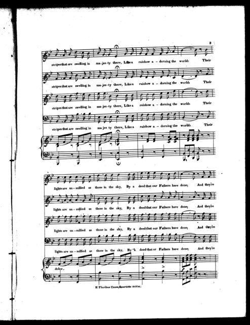 E pluribus unum, an American national song