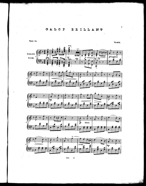 Galop brilliant, op. 34 [from] The four sons of Aymon