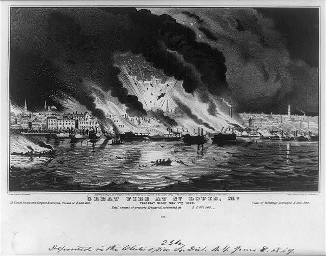 Great fire at St. Louis, Mo.: thursday night May 17th