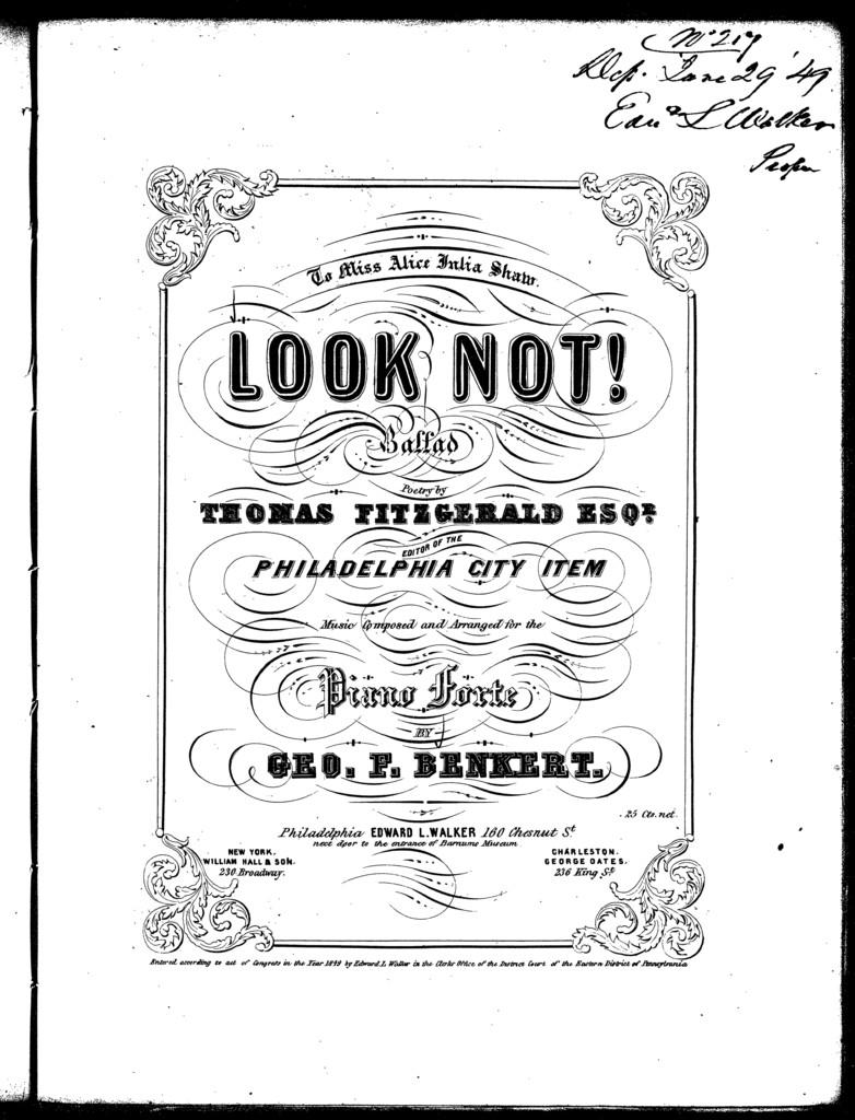Look not! Ballad