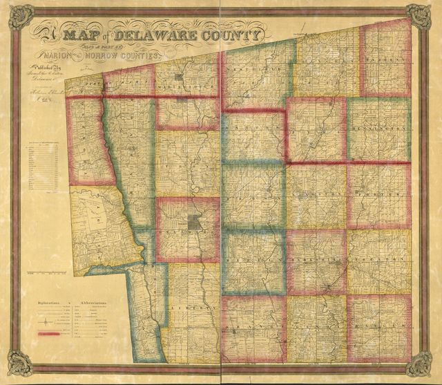 Map of Delaware County : also a part of Marion and Morrow counties /