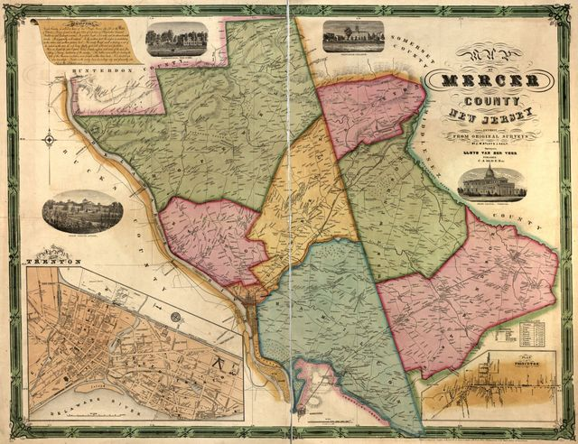 Map of Mercer County, New Jersey /