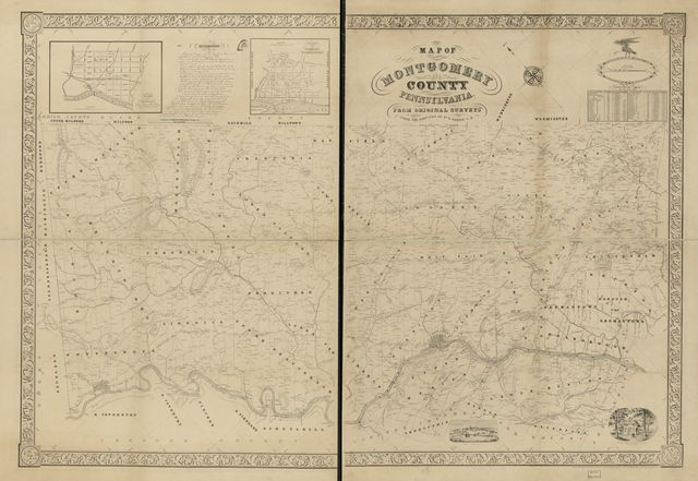 Map of Montgomery County, Pennsylvania : from original surveys /