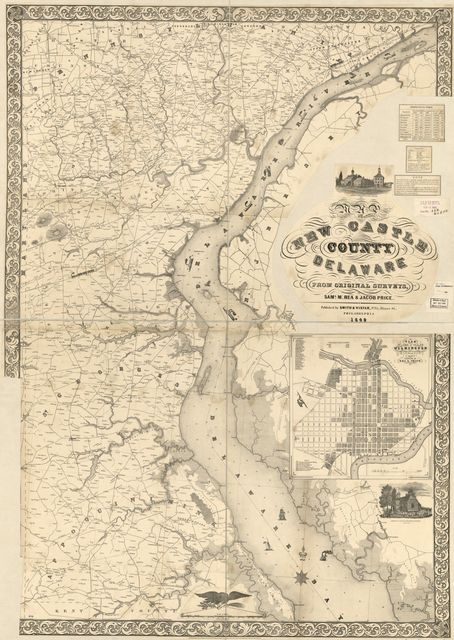 Map of New Castle County, Delaware : from original surveys /