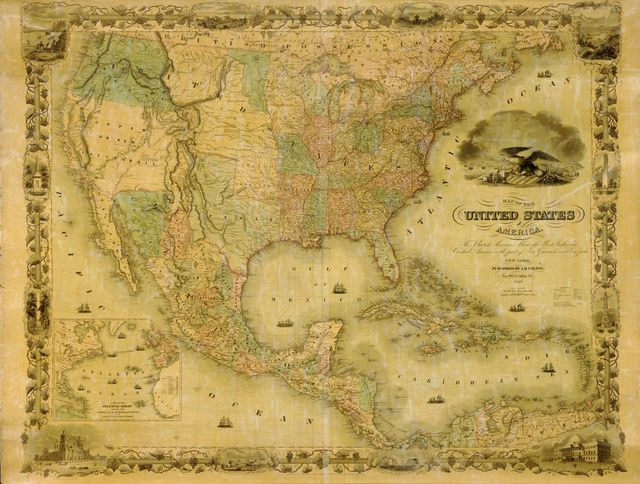 Map of the United States of America, the British Provinces, Mexico, the West Indies and Central America, with part of New Granada and Venezuela /