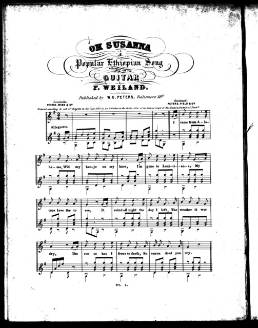Oh Susanna, a popular Ethiopian song