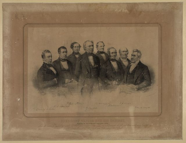 President Taylor and his cabinet / drawn on stone by Davignon & Hoffmann ; printed by Nagel & Weingærtner, N.Y.