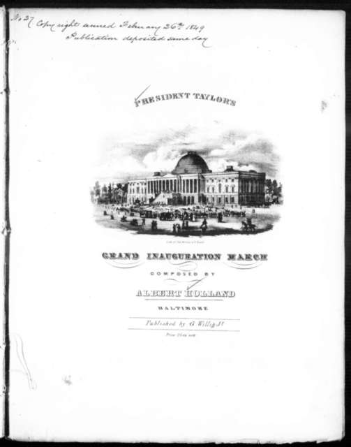 President Taylor's grand inauguration march