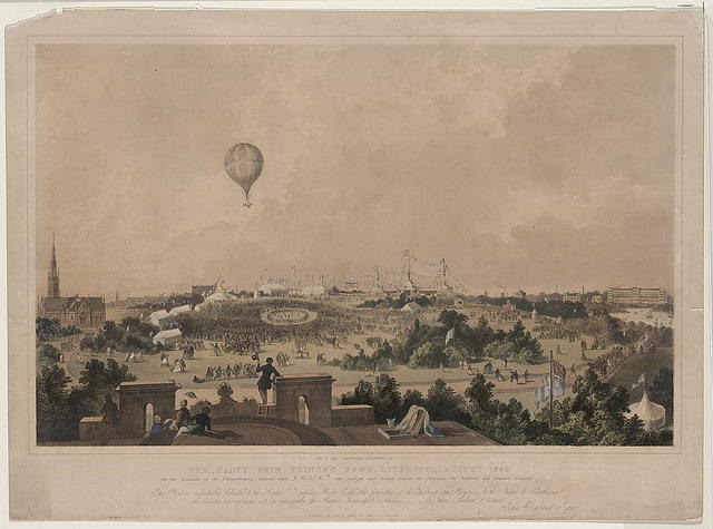 The fancy fair, Prince's Park, Liverpool, August, 1849 / John R. Isaac, draughtsman, lithographer & c.
