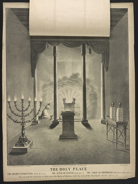 The holy place / lith'y. of A. Kollner cor. of Dock & 2nd, Phila ; H. Camp print.