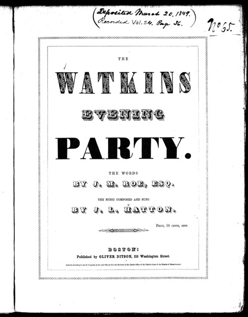 The  Watkins evening party