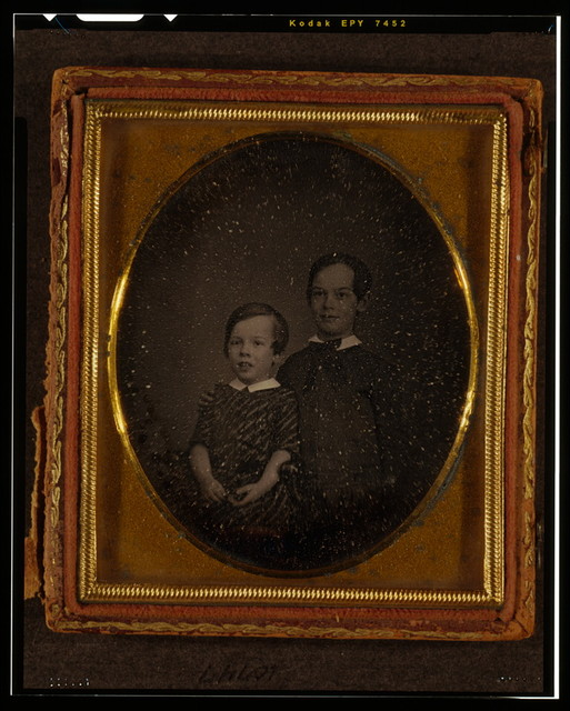[Unidentified boys, half-length portraits, probably George F. Becker and Alexander Rudolph Becker as children]