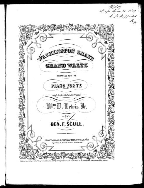 Washington Grays' grand waltz