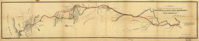 A map illustrative of the route of the proposed railroad : from St. Louis to the Bay of San Francisco /