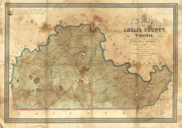 A map of Amelia County, Virginia /