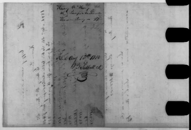 [Abraham Lincoln], [August 13, 1850]  (Declaration and Praecipe in case of Henry McHenry vs. Hiram Penny)