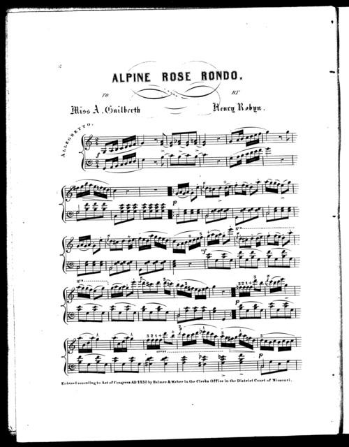 Alpine rose rondo