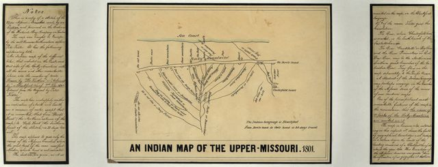 An Indian map of the Upper-Missouri, 1801.