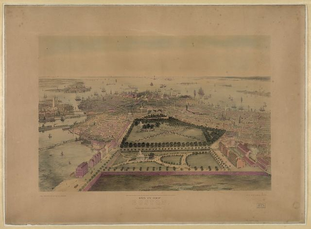 Bird's eye view of Boston / drawn from nature and on stone by J. Bachmann ; lith. of Sarony & Major, New York.