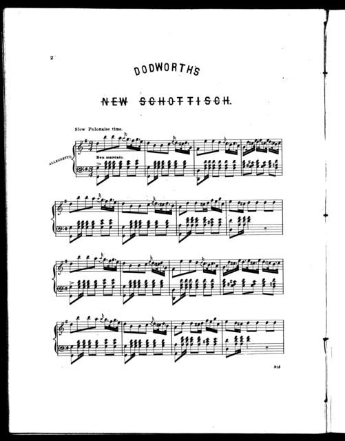 Bolero, or, Dodworth's new schottisch