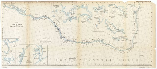 Chart of the coast of Brazil from Maranham to the River Plate.