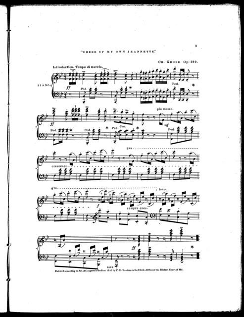 Cheer up my own Jeannette, vari,̌ op. 189