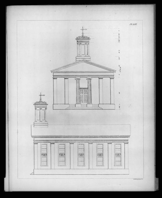 [Church and its details. Design for front and side of church. Elevations] / G. W. Boynton Sc.