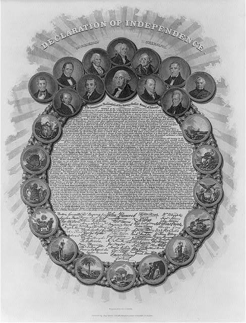 Declaration of Independence - in Congress July 4th 1776 / engraved by Geo. G. Smith.