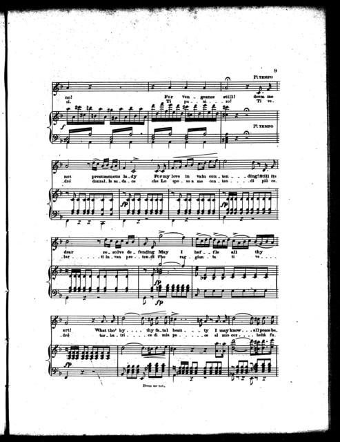 Deem me not, presumtuous lady! Io vedro la mia rivale, cavatina [from] the opera Eleonora di Guienna