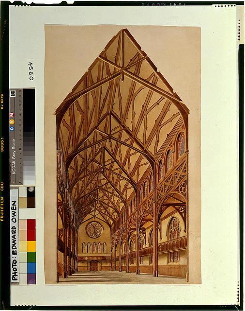 [Elaborate church interior, possibly St. Luke's in Brooklyn, New York]