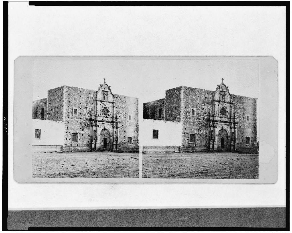 Front of unfinished church in Chihuahua