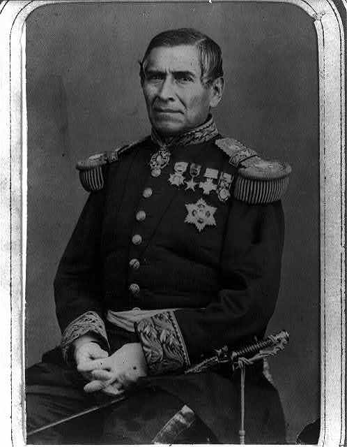 [General Juan Nepomuceno Almonte, half-length portrait, seated, facing front]