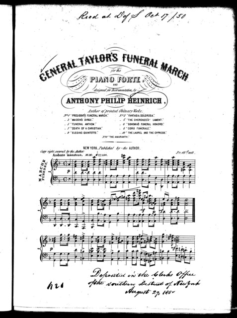 General Taylor's funeral march