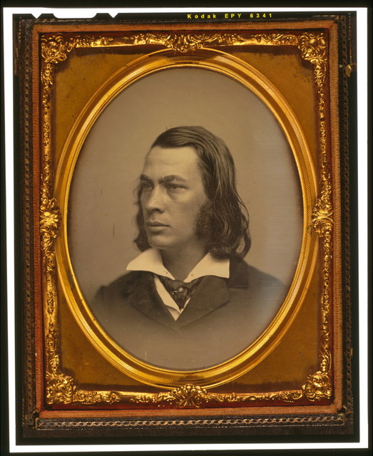 [George Lippard, head and shoulders portrait, facing left]