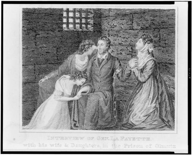 Interview of Gen. Lafayette with his wife & daughters in the prison of Olmutz