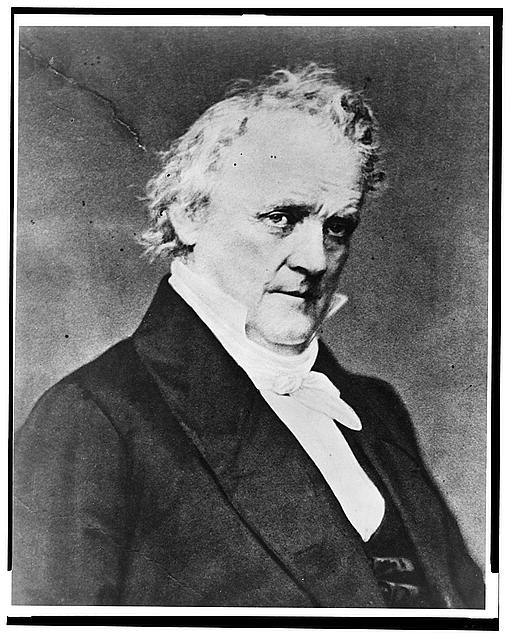 [James Buchanan, bust portrait, facing right]