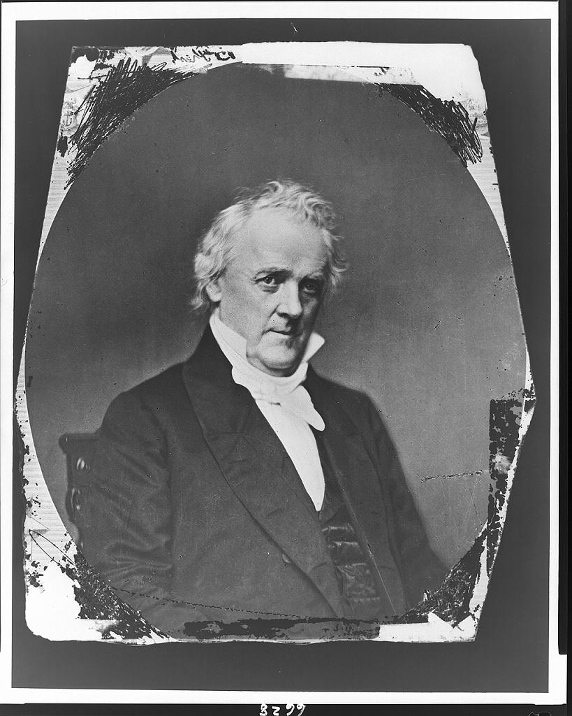 [James Buchanan, bust portrait, facing right]